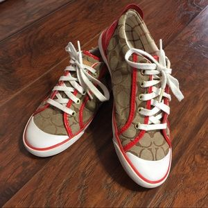Coach Barrett Lace Up Classic Logo Canvas Sneakers